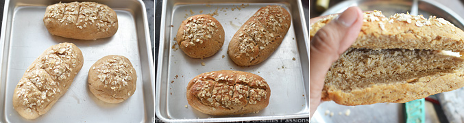 How to make honey oats bread subway sandwich - Step4