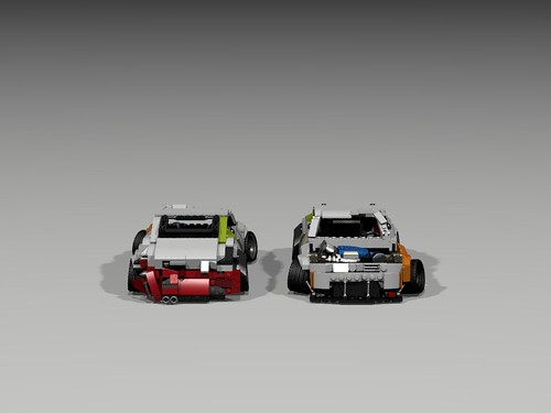 Nissan 350Z Drift Pig. front and back