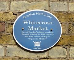 Photo of Whitecross Market blue plaque