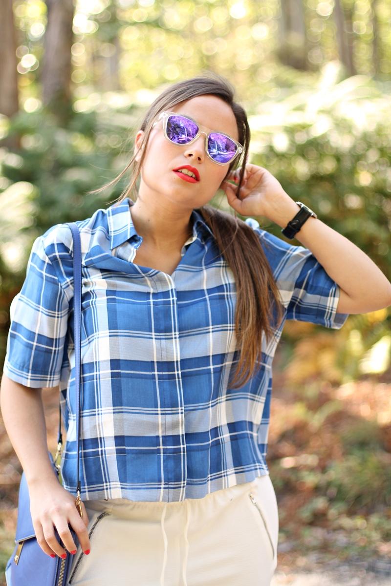 camisa cuadro azul
