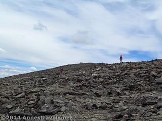 Climbing up Ypsilon Mountain, Rocky Mountain National Park, Colorado