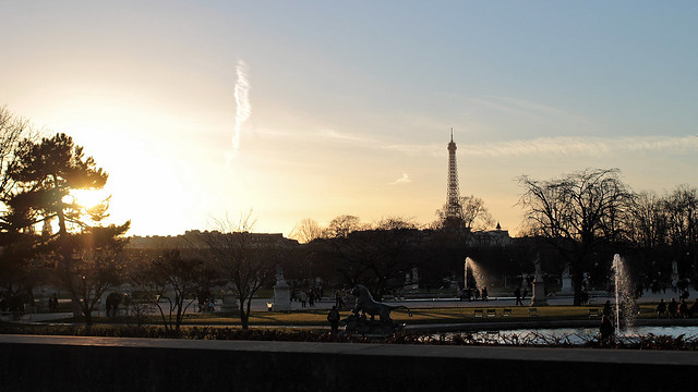 Sunset at Tuileries