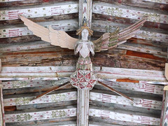 an angel in Blythburgh church