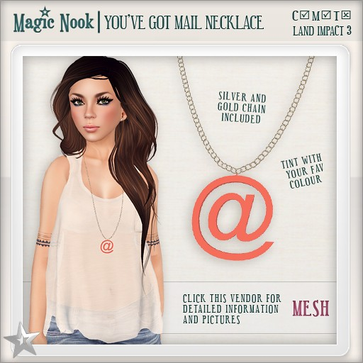 [MAGIC NOOK] You've Got Mail Necklace MESH
