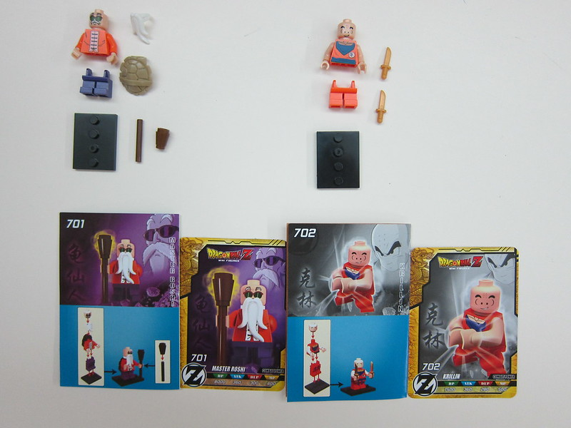 Dragon Ball Z Lego Compatible Minifigures - Packaging (Master Roshi & Krillin)