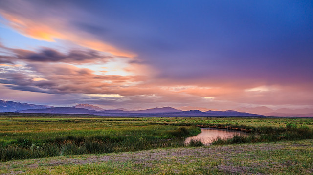 A Gorgeous Sunset Sky Over Owens River