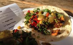 Vegetarian Tacos at Peace Love Tacos - FYF Fest 20…