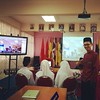 #smslabuan Hangout bersama dua buah sekolah di negeri Sabah melalui program maya berjual beli pantun bersama pemantun SM Sains Sabah dan SMK Majakir  #vle #vlefrog @smslabuan #moe #sbp #pantun #google #hangout