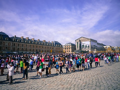 Waiting to enter the Château de Versailles