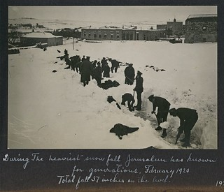 1920 Snowfall Jerusalem