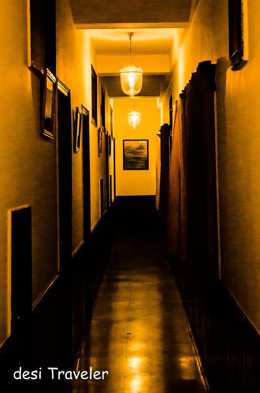 Corridors of Johnson Lodge in Night