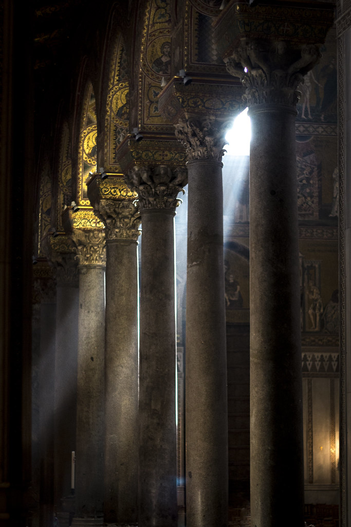 Sunbeam between Columns