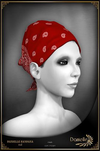 DANIELLE Bandana Red