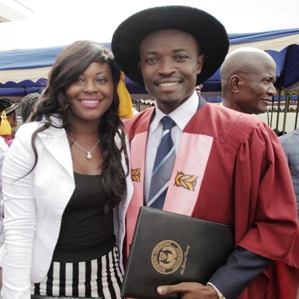 Dr. Jefferson Sackey and sister