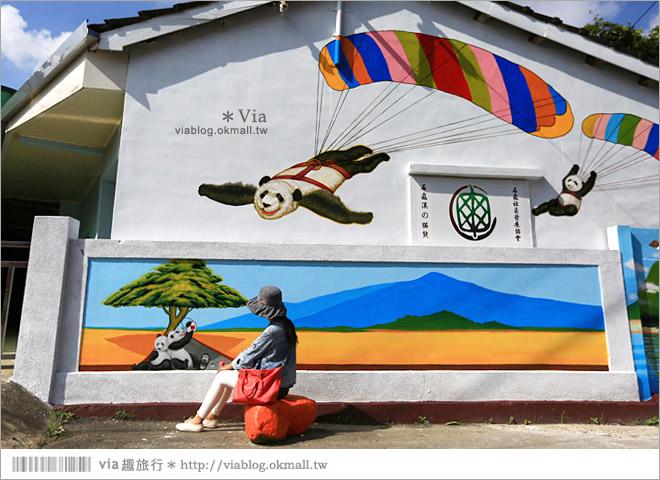 【雲林熊貓村】斗南鎮石龜熊貓村~最新!超萌又生動的立體3D畫彩繪村再一彈!40