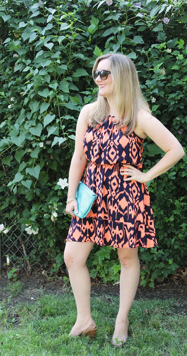 orange-printed-dress-ikat