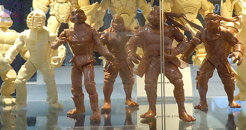 "San Diego CHAOS CONUNDRUM 2014 ::  VARNER STUDIOS Booth, SDCC '14; TMNT protos - Unreleased ""SHADOW NINJAS"" NEXT MUTATION protos"
