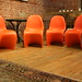 Orange Panton S Chairs