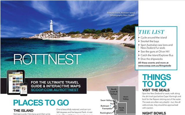 Scoop Traveller mag use on my Rottnest image , Aug 2014