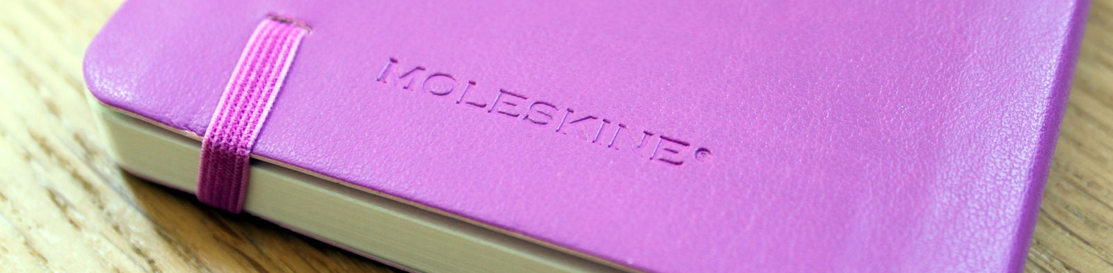 Moleskine soft cover pocket notebook (orchid purple) back cover