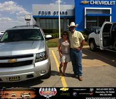 #HappyAnniversary to Syndal Mcclatchy  on your 2013 #Chevrolet #Tahoe from Mark Havens at Four Stars Auto Ranch!