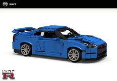Nissan GT-R (CBA-R35 2011) Blue