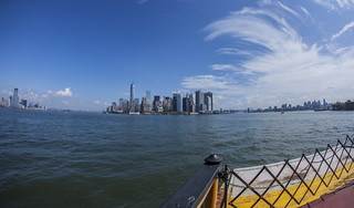 The view of Jersey City, Lower Manhattan and Brooklyn from the Staten Island Ferry | by Anthony Quintano