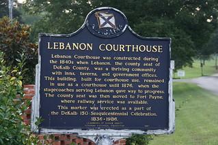 Lebanon Courthouse Historical Marker / P2013-0901D001