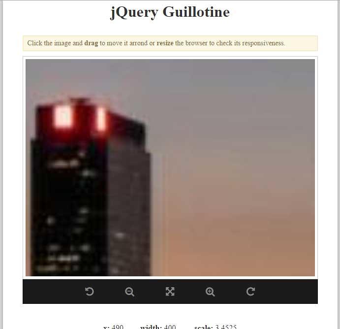 Guillotine : jQuery Image Crop Zoom Rotate Plugin | Guilloti
