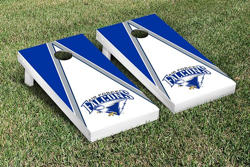Air Force Academy Falcons Cornhole Game Set Triangle Wooden