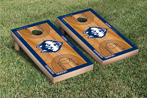 Connecticut UCONN Huskies Cornhole Game Set Basketball Court Version