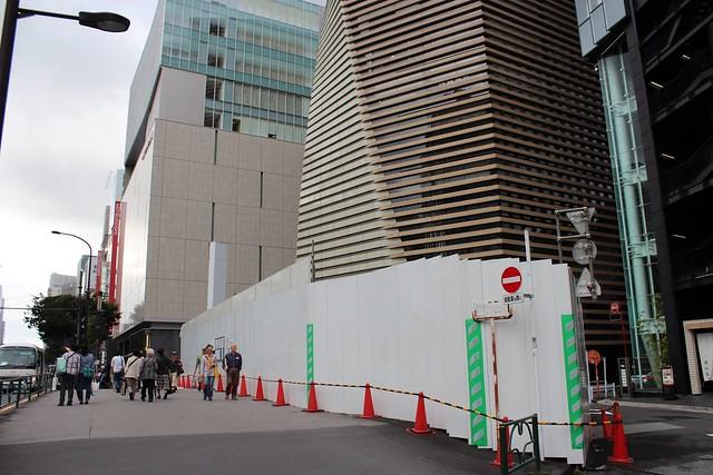 土浦亀城作の三原橋センター解体中 (13)