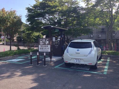 十和田スキー場駐車場 急速充電器