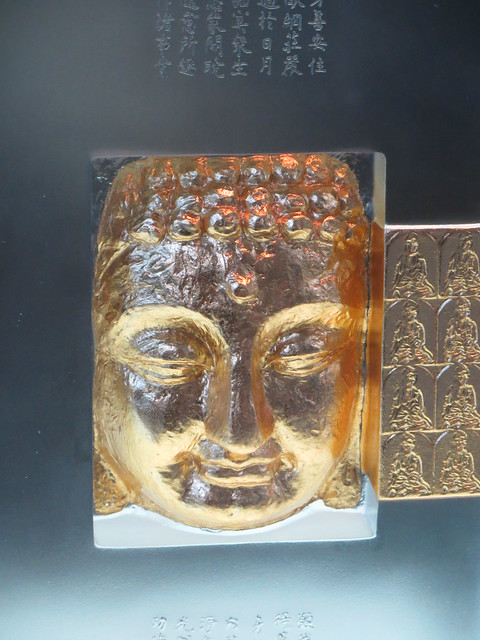Buddha Relief Sculpture on Glass