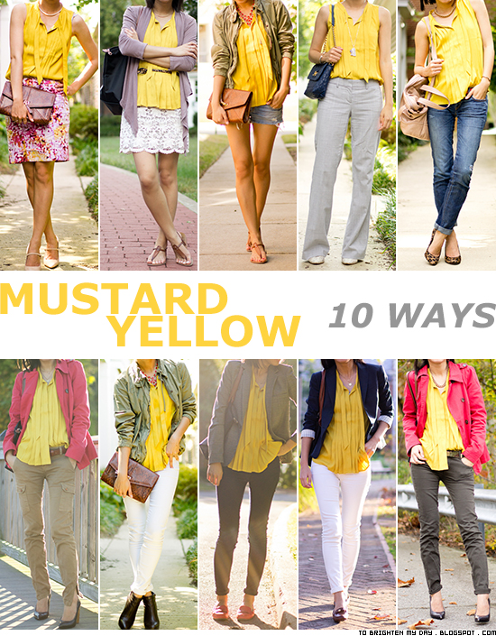 how to wear yellow top