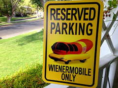 WienerMobile Parking Sign