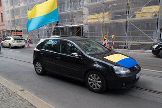 Pro-Ukraine demonstrator