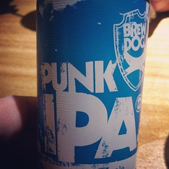 Had a break from the norm with dinner tonight. @BrewDog IPA