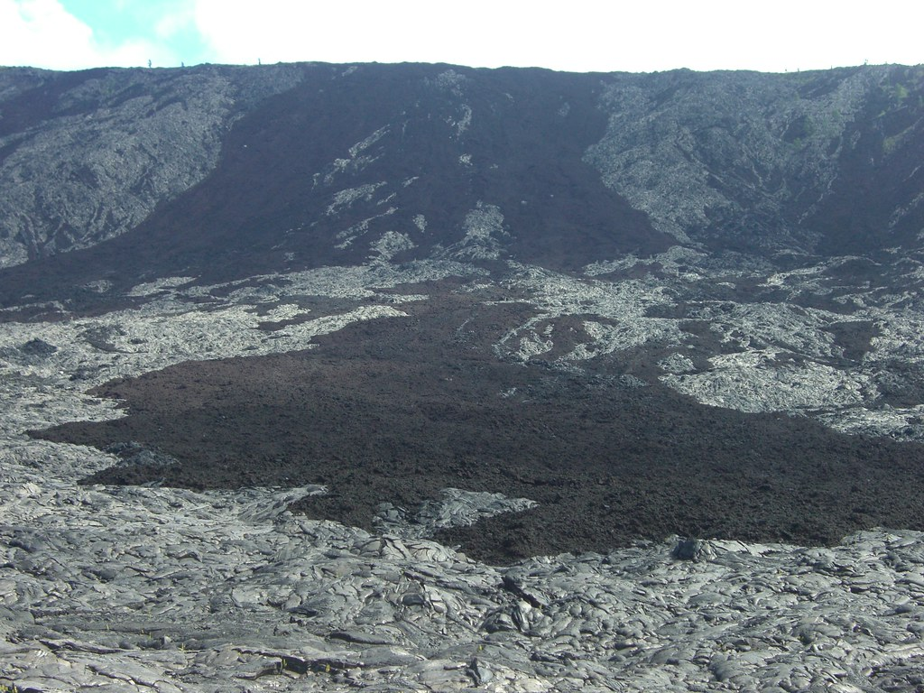 Overlapping lava flows