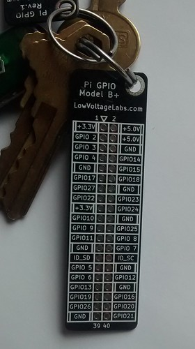 Pi GPIO Plus reference card from Low Voltage Labs