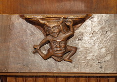 Nájera (La Rioja). Monasterio de Santa María la Real. Misericordia de la sillería