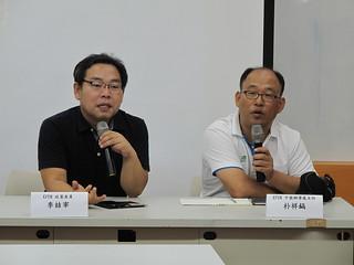 KFEM交流團代表李喆宰委員(左)與朴祥鎬(右)主任