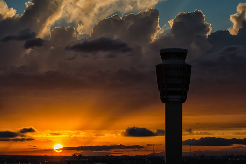 sunset arizona sky phoenix harbor airport nikon international phx skyharbor kphx phoenixskyharborinternationalairport d7000