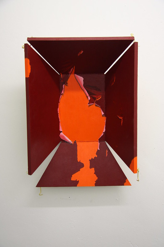 Invitation, oil on hinged board, 2014, 60x20x20cm