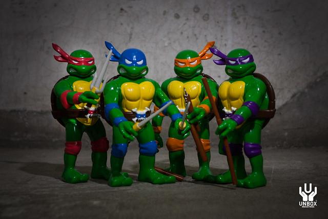 UNBOX INDUSTRIES × 真頭玩具【忍者龜軟膠】Teenage Mutant Ninja Turtles
