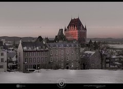 Chateau Frontenac winter sunset DRI... almost B&W