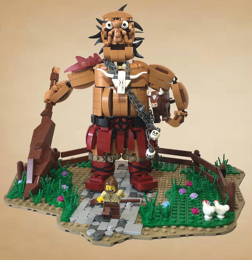 Hill Giant Cattle Farmer (custom built Lego model)