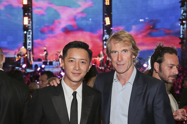 Han Geng and Michael Bay