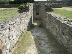 stone wall, wall, ruins, moat,