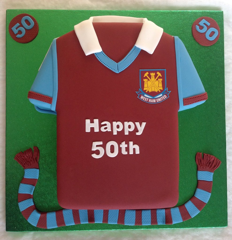 West Ham 50th Birthday Shirt